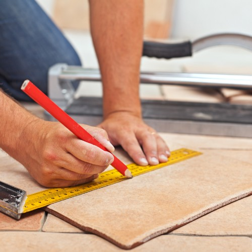 Tile Installation with proper measurement | Boyle's Floor & Window Design
