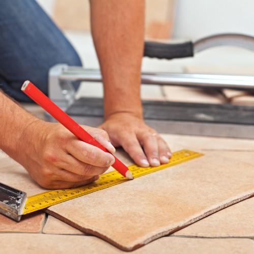 Tile Installation with proper measurement   Boyle's Floor & Window Design