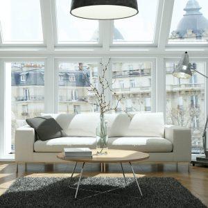 Eye catching Area Rug in living room   Boyle's Floor & Window Design