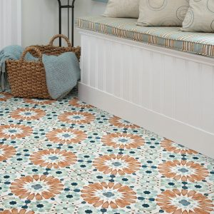 Tiles with flowers images on it | Boyle's Floor & Window Design