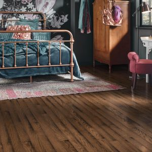 Oak Solid Hardwood in bedroom | Boyle's Floor & Window Design