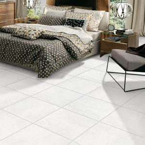 Winter Park White Tile in bedroom | Boyle's Floor & Window Design