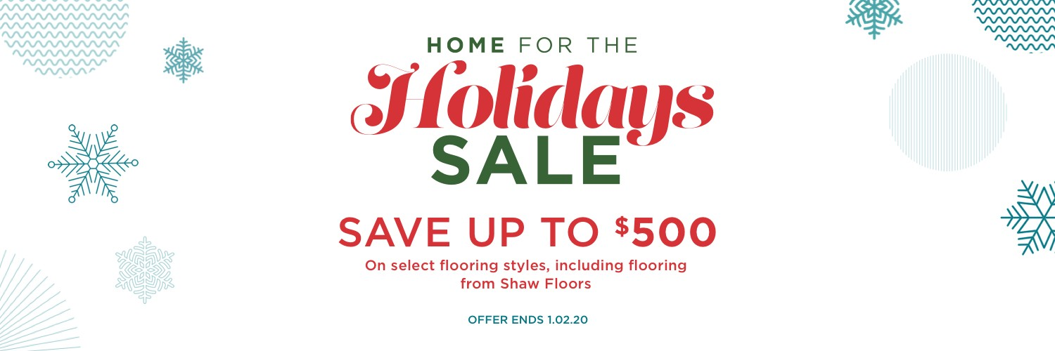 Home for the holidays sale | Boyle's Floor & Window Design
