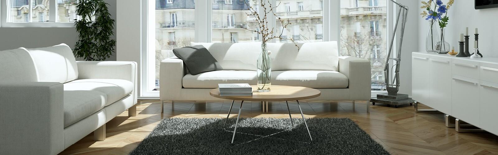 Living room white interior | Boyle's Floor & Window Design