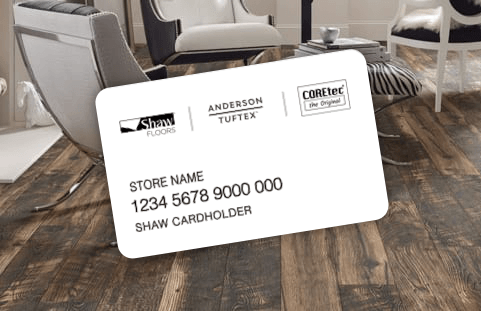 Shaw credit card | Boyle's Floor & Window Designs