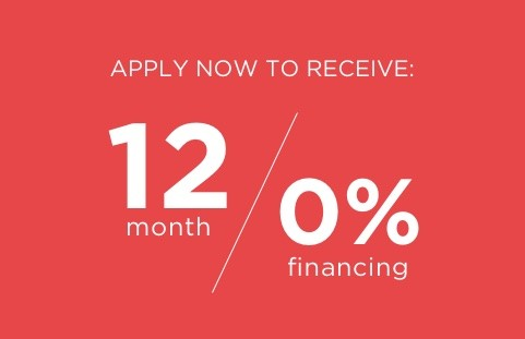 12 month / 0% financing - Learn More