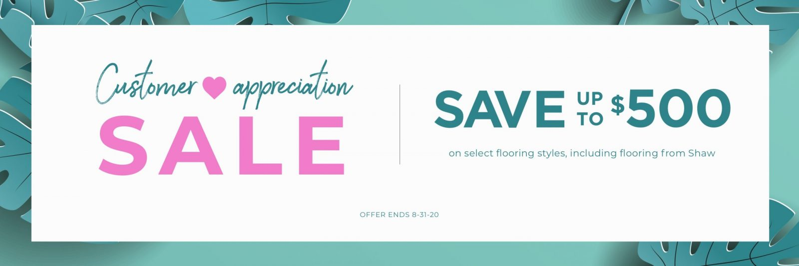 Customer Appreciation Sale | Boyle's Floor & Window Designs